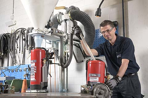 Service for fire extinguishers, measuring and warning equipment